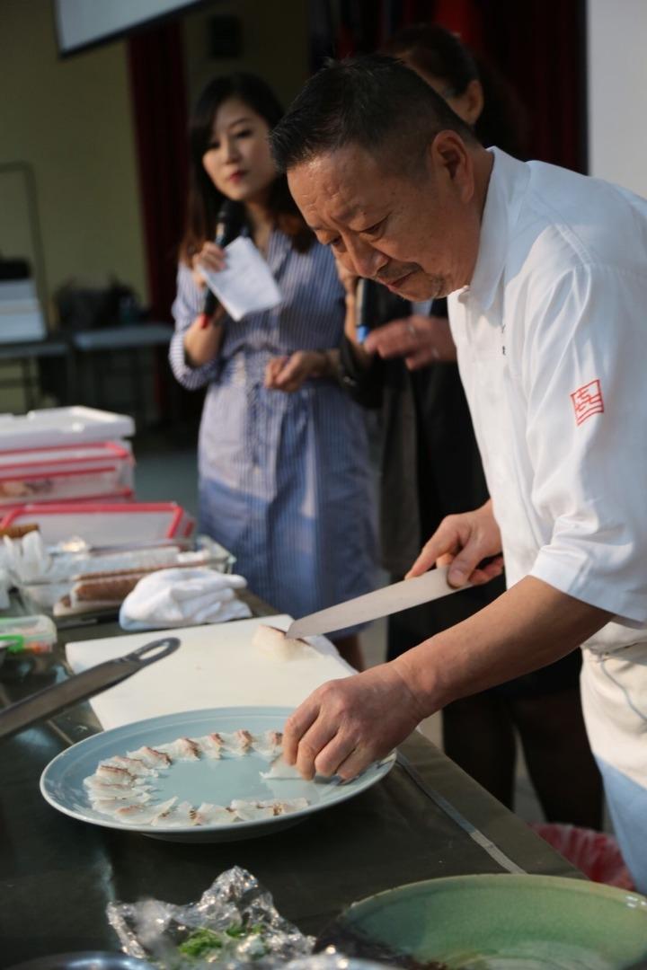 日本名廚千葉憲二示範料理-鯛魚生魚片